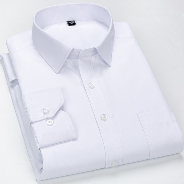 Striped Dress Shirt Men White Business Shirts Casual Solid With Pocket Regular Fit Vetements Male Clothing Plus Size 8XL 7XL 6XL