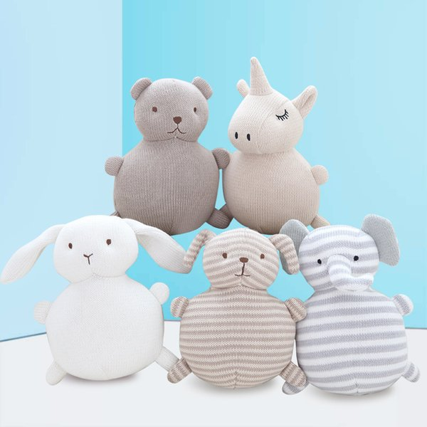5 Styles New Creative Cotton Thread Plush Doll 18cm Comfort Sleeping Baby Stuffed Doll Cute Cartoon Toys Kids Gift L519