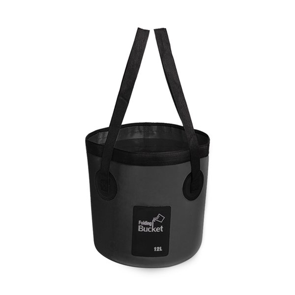 top popular 12L 20L Multifunctional Water Storage Fishing Outdoor Camping Folding Bucket Washing Bag Waterproof With Carry Belts Portable 2019