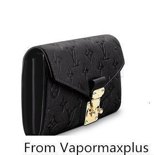 best selling Metis Wallet M62458 Black Real Caviar Lambskin Flap Bag Long Chain Wallets Key Card Holders Purse Clutches Evening