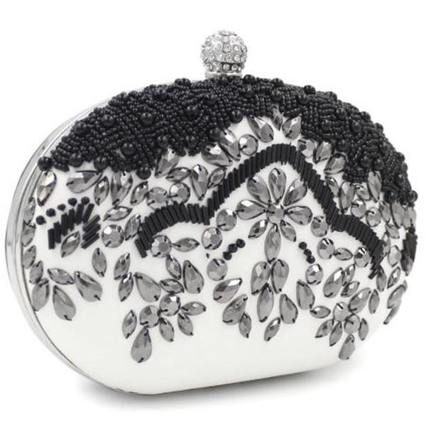 Bag Black High-Grade sera in rilievo Handmade Pearl Diamond borsa da sera Cena frizione