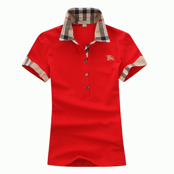 المرأة تي شيرت مصمم قصيرة الأكمام الصيف تي شيرت أزياء العلامة التجارية قميص بولو للمرأة ذات جودة عالية 5 لون S-XXL