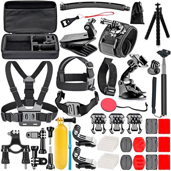 50-In-1 lot Action Camera Accessory Kit for GoPro Hero 6 / 5 / 4 SJCAM / Xiaomi Yi action camera