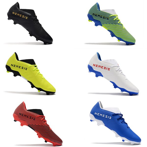 Lacer les jeunes hommes juniors garçons Nemeziz 19,3 FG Chaussures de football Chaussures TPU Low Cut crampons de football pour enfants chuteiras de futebol