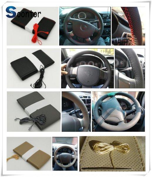 автомобильные аксессуары Мягкая кожа волокна рулить плетеный DIY крышкой руль для W203 W210 W211 W204 A C E S CLS CLK