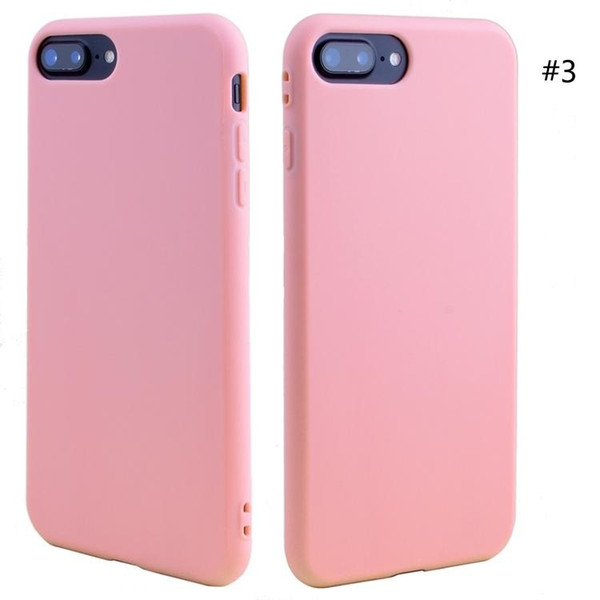 New for iphone XS MAX XR X 6S 7 8 plus TPU silicone soft cell phone case slim ultra thin cheap cell phone case cover candy colors 500pcs