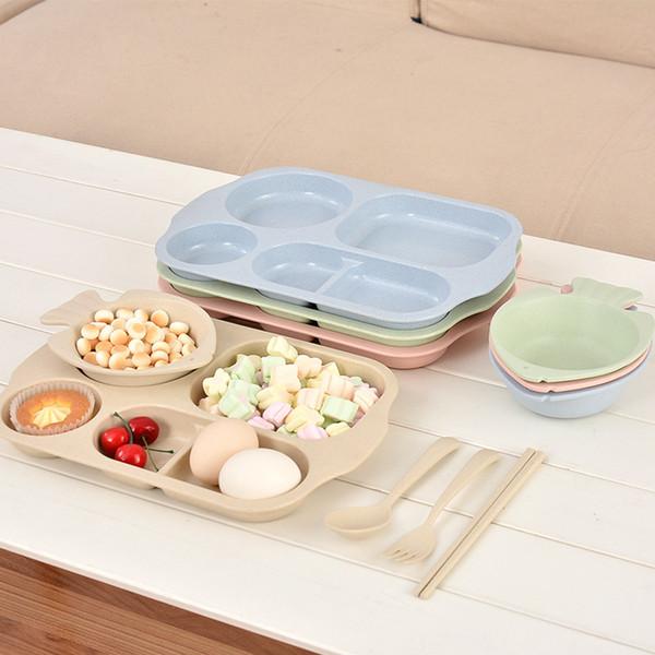 Creative fish Dinnerware plate separation tray children's fish bowl fork spoon chopsticks environmental protection tableware