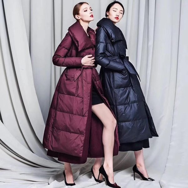 Winter New fashion brand woolen lining inside stitching duck down coat female fake two pieces warm duck down jacket wq594