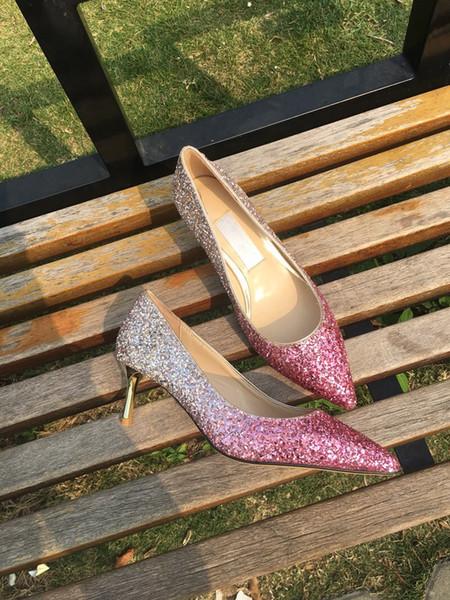 Chaussures de sport de marque So Kate Styles Chaussures à talons Chaussures rouges Bas Talons Luxe 12CM 14CM Cuir Véritable Point Toe Pumps Caoutchouc fh19022708