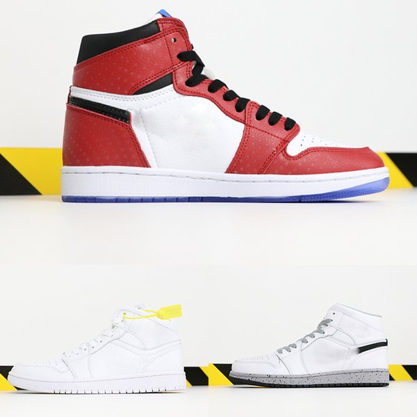 best selling HOT designer Chicago Crystal 1 White Red Sneakers Shoes for Mens 1S OG MID casual shoes high quality women Trainers shoes black size 36-47