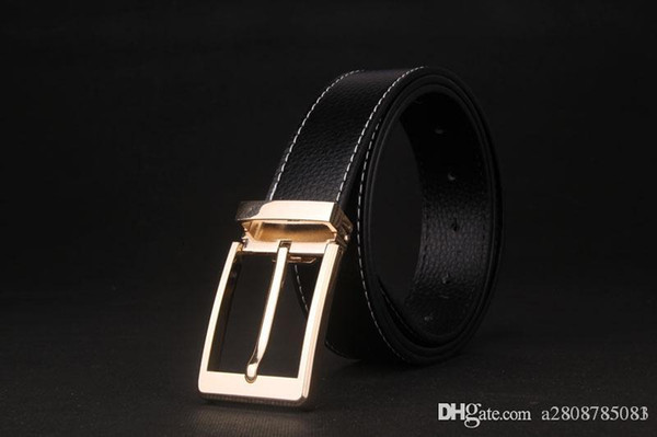 rmale belt for mens high quality cow genuine leather belts 2018 hot sale strap fashion new jeans silve gold Buckle