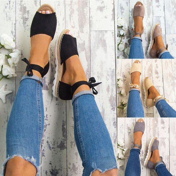 Plus Size 34-44 Flats Sandali Summer Sandali Donna Fashion Casual Shoes For Woman European Rome Style Sandale Femme