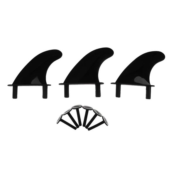 3 Pcs Plástico Macio Top Surf Fin 6 Aletas Parafusos Softboard Para Prancha De Surf E SUP Stand Up Paddle Board