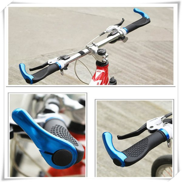 Bicycle Handlebar Outdoors Ergonomic Design Antiskid Shockproof Grips with Aluminum Alloy Bar Ends cycling Bicycle Accessories