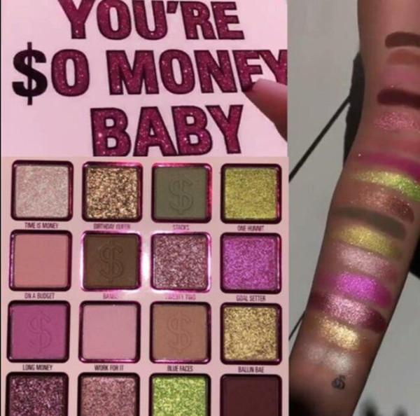 2019 Hot Ky anniversaire Collection Vous êtes $ o bébé argent 16 couleurs mat et Shimmer fard à paupières Ombre à paupières Maquillage