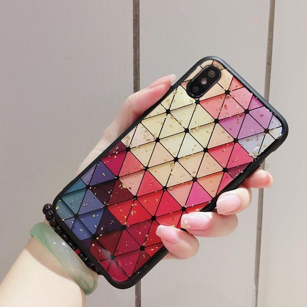 Bling Epoxy TPU case cover for IPHONE XS MAX XR XS 6 7 8 PLUS Love Leopard Grid Peach Pattern 100PCS/LOT