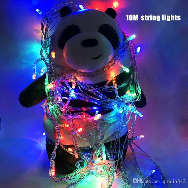 2019 Christmas light Holiday Sale Outdoor 10m 100 LED string 8 Colors choice Red/green/RGB Fairy Lights Waterproof Party Garden light