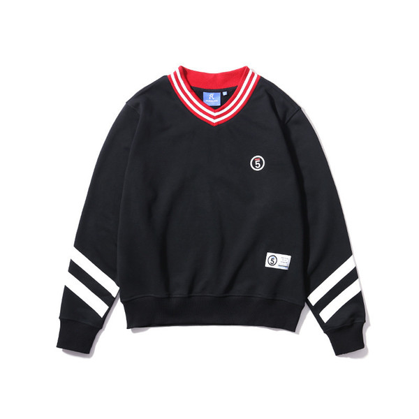 Pop2019 And Pattern Wear Color Whorl Small V Lead Men's Cool Time Printing Pullover Sweater