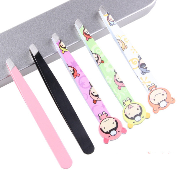 Eyebrow Tweezers Stainless Steel Face Hair Removal Eye Brow Trimmer Eyelash Clip Cosmetic Beauty Makeup Tool