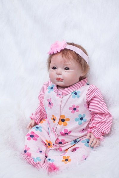 New soft body silicone reborn baby dolls girls 22 toy realistic 55 cm toddler vinyl toys for children Christmas new Year's present