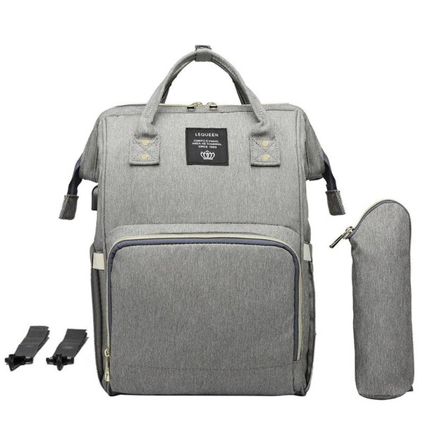 Maternity Waterproof Diaper Bag USB Charging Large Mummy Daddy Backpacks Large Capacity Waterproof Casual Laptop Bag #139861