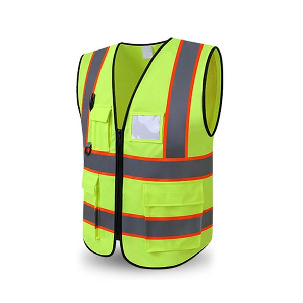 Warnweste High Visibility Multi Pocket Sicherheits-Gang Außenschutz Tank Top Construction Security Guard Outer Wear