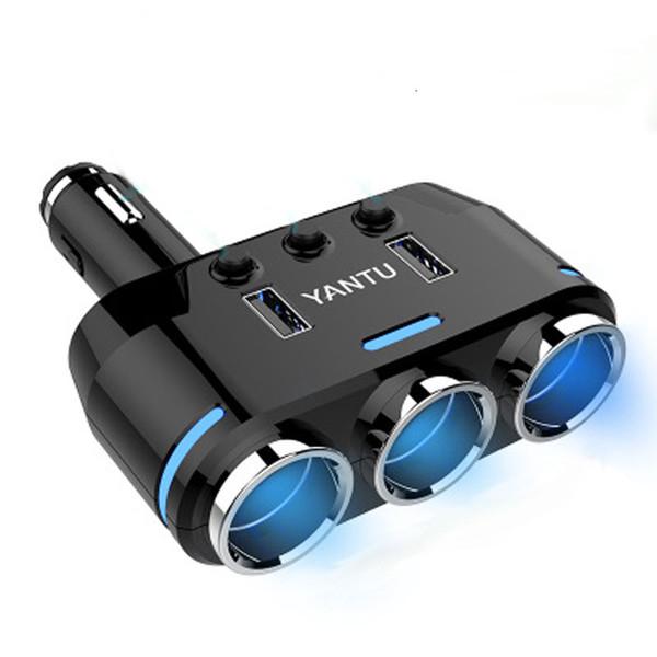 12V-24V 3.1A Accendisigari per auto presa accendisigari Spina spina LED doppio adattatore per caricabatterie USB per cellulare MP3 Accessori