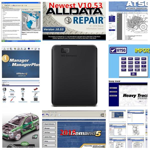 2019 Alldata und Mitchell Software 1 TB Auto Repair Software Alldata 10.53 und Mitchell 2015 Vivid Workshop atsg 49 in 1 TB HDD