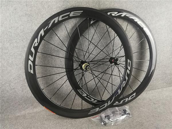 strada DURA ACE carbonio graffatrice rotelle tubolari 50 millimetri 60 millimetri 700C Wheelset lucido opaco 3k / UD ceramica C8 cuscinetto
