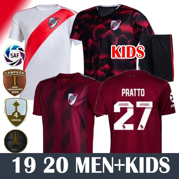 MEN+KIDS 19 20 4 Conmebol 2019 River Plate Soccer Jerseys MARTINEZ PONZIO SCOCCO CASCO 19 20 River Plate PEREZ FERNANDEZ FOOTBALL SHIRTS