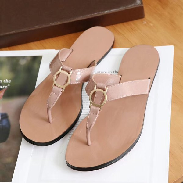 Womens Beach Summer Slippers Flip Flops slippers pink slippers Candy colors metal chain casual shoes Cool Slipper 12 Colors w01