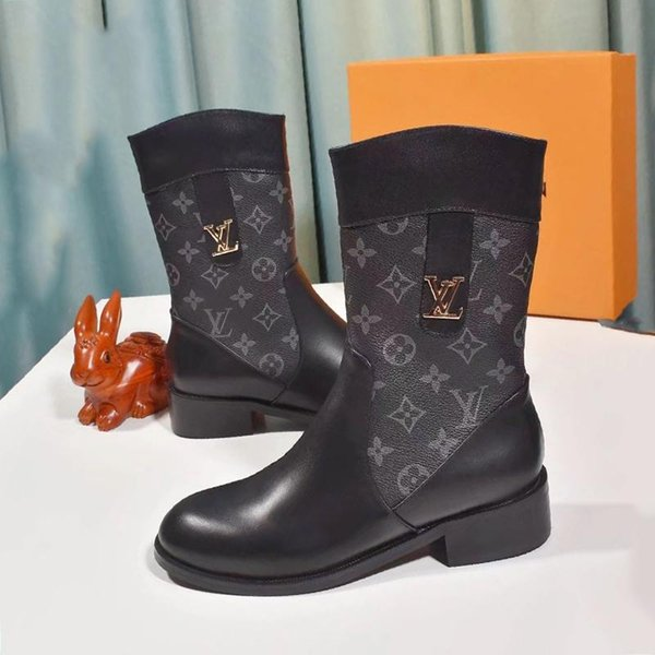 good sports shoes buy popular Louis Vuitton LV Hot Womens Winter Ankle Boots Lace Up Vintage ...