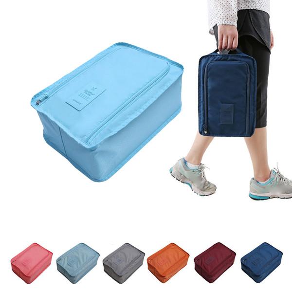 6 Colors Travel Storage Bag Nylon Portable Organizer Bags Shoe Sorting