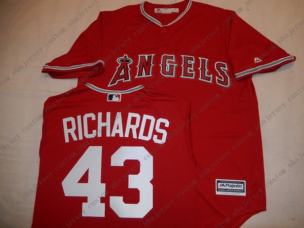 Cheap custom Anaheim GARRETT RICHARDS Baseball JERSEY Red Stitch customize any number name MEN WOMEN YOUTH baseball jersey XS-5XL