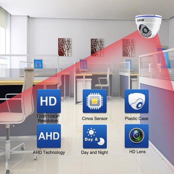 Surveillance IP-Kamera Smar neueste Full HD 720P 1080P AHD Kamera 24 Infrarot-LEDs 2.0MP-Auflösung mit HD 3.6mm Objektiv CCTV