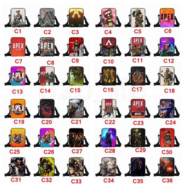 Apex Legends hero handbag 36styles 3D printed cartoon kids bag shoulder lunch bag men Phone Coin Bag AAA1865