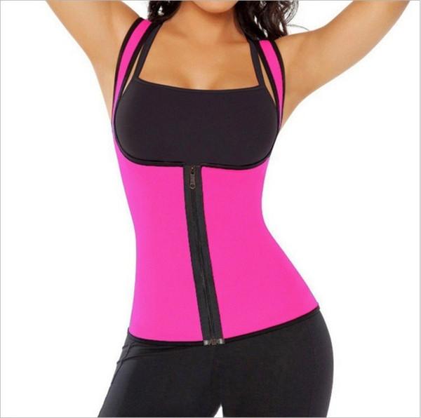 Nuove cinghie di sostegno della vita cinghie Body Shaper che dimagriscono Trainer della vita Donne della maglia della chiusura lampo Cintura di sudore del corsetto di grandi dimensioni