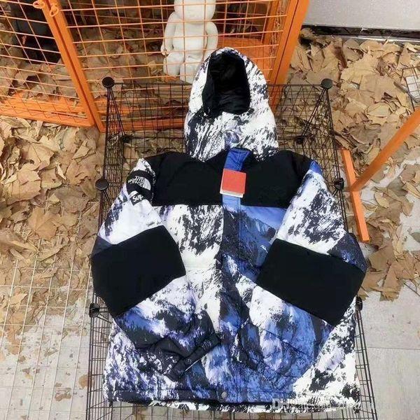 Kar Dağ Aşağı Ceket Erkek Langford Parka Erkekler Kış Tüy Palto Zamansız Tarzı Ceket Çıkarılabilir Gerçek Kürk Kış Ceket