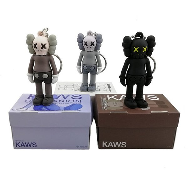 top popular KAWS BFF Keychain Trend doll Brian Street Art PVC Action Figure Limited Version Collection Model Toy Gift Straps Charms 2019