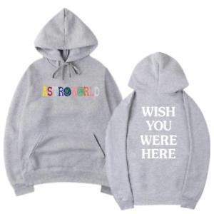 ARockROWORLD TRAVIS SCOTT Hoodie Sweatshirts Ich wünschte, Sie wären hier TraRocker