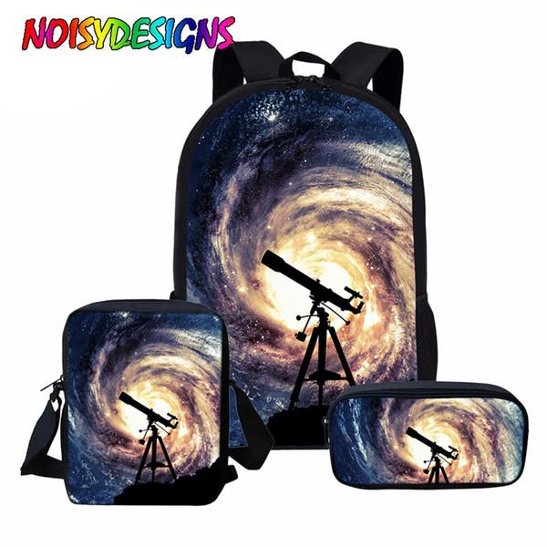 NOISYDESIGNS Space Star Galaxy Print Schultasche Teenager Mädchen, Frauen Rucksack Sets, Mädchen Casual Reisetasche Pack, Mochila Mujer