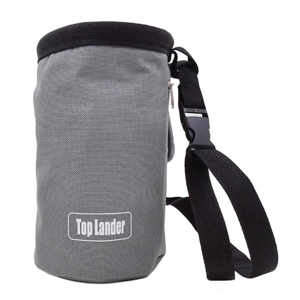 Climbing Chalk Bag Non-slip Adjustable Magnesium Powder Storage Pouch Grey *DC