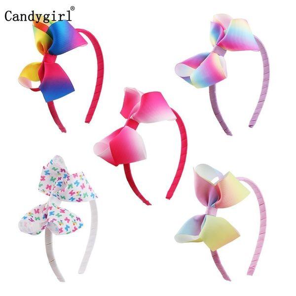 135pcs arco archetto tessuto copricapo arcobaleno nastro stampato braccialetti fascia per capelli accessori scrunchie accessorio del costume di Natale