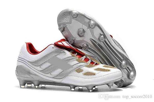 Futbol orijinal cleats kapalı futbol ayakkabı Krampon de futbol çizmeler predator mania Hassas Hızlandırıcı DB David Beckham FG Altın