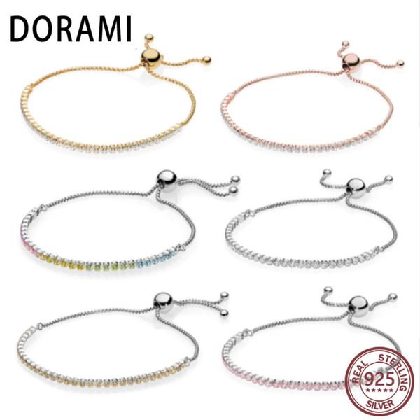 b499c15b1e9c9 2019 DORAMI 100% 925 Sterling Silver SHINE ROSE GOLDEN PINK Rainbow  Sparkling Strand Bracelet Z 590524CZ ZMX 580524CZ From Baozii, $28.12 |  DHgate.Com