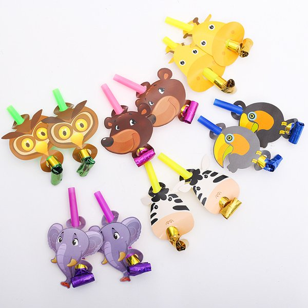 Blowing Volume Whistle Owl Curly Tail Horn Cartoon Children Bugle Baby Shower Favors Add To The Fun 14 8mlC1