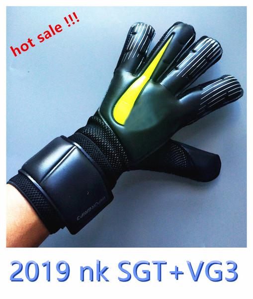 top popular Hot sale !!! NK Sports Gloves SGT+VG3 Breatherable Goalkeeper Gloves 4MM CONTACT Latex Antiskid Goalkeeper Gloves Luva De Goleiro Wholesale 2019