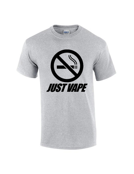 Brand New 2019 inspired men just vape t shirt knitted comfortable fabric Hipster O-Neck Cool Tops