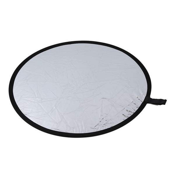IG- Reflector redondo Para fotografía Diámetro 80cm Plegable plateado blanco