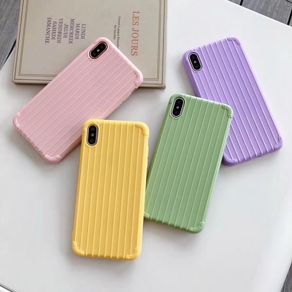 Nette Süßigkeit-Farben-weiche TPU Silikon-Telefon-Kasten für iphone XR-Fall für iphone 6 6s 7 8 plus X Xs max Luxus Trunk-Art-rückseitige Abdeckung Ypf31-10